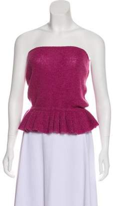 Christian Dior Knit Strapless Top