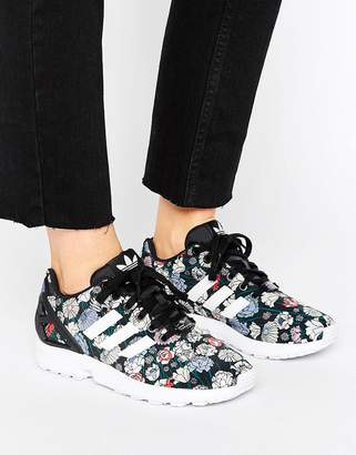 Adidas ZX FLUX Performance Floral Print Sneakers $99 thestylecure.com