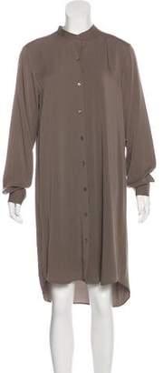 Theory Button-Up Silk Dress
