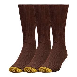 Gold Toe Men's Cushion Foot Fluffie Sock, 3-Pack