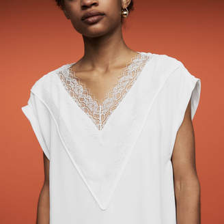 Maje Oversized top with lace