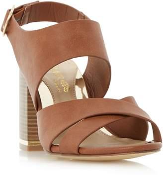 Head Over Heels Jaya Stack Heel Cross Strap Sandals
