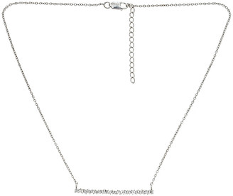 Forever Creations USA Inc. Forever Creations Silver 0.50 Ct. Tw. Diamond Baguette Necklace