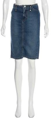 Dolce & Gabbana Midi Denim Skirt