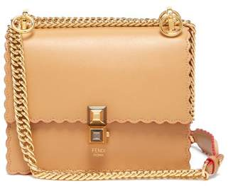 Fendi Kan I Small Leather Cross Body Bag - Womens - Tan