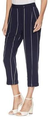 Vince Camuto Striped Folded Cuff Pants