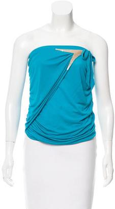 La Perla Ruched One-Shoulder Top w/ Tags $95 thestylecure.com