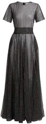 Ashish Sequin Embellished Tulle Dress - Womens - Black