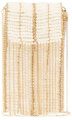 Rosantica By Michela Panero - Dakota Faux Pearl Embellished Phone Case - Womens - Gold Multi