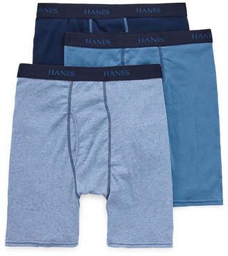 Hanes Men's FreshIQ ComfortFlex Waistband Boxer Brief 3-Pack - Big