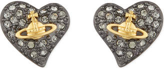 Vivienne Westwood Tiny diamanté heart studs