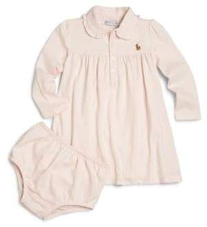 Ralph Lauren Baby Girl's Two-Piece Polo Dress& Bloomers Set
