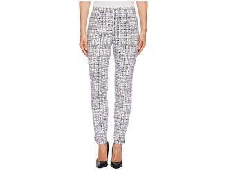 Tribal Stretch Printed Bengaline 28 Pull-On Ankle Pants