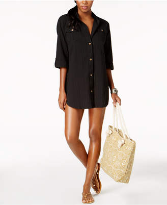 Dotti Cabana Life Shirtdress Cover-Up Women's Swimsuit