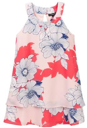 My Michelle mymichelle Floral Print Tiered Dress (Big Girls)