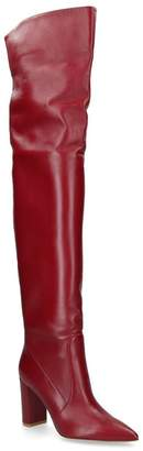 Gianvito Rossi Morgan Over-The-Knee Leather Boots 85