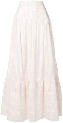 Calvin Klein checked maxi skirt