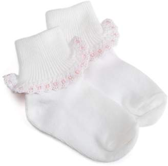 Jefferies Socks Cluny And Satin Lace Sock