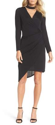 Julia Jordan Choker Neck Asymmetric Dress