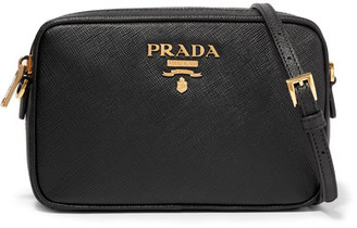 Prada - Camera Textured-leather Shoulder Bag - Black $850 thestylecure.com