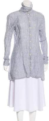Shirt by Shirt Printed Longline Button-Up Top