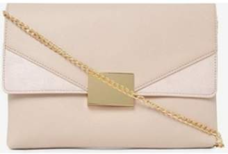 Dorothy Perkins Womens Nude Square Hardware Clutch Bag