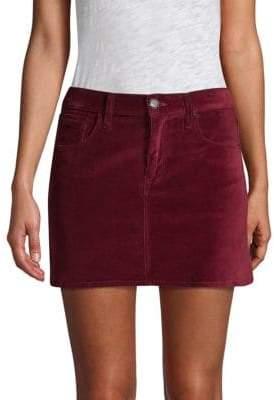 Hudson Jeans Viper Velvet Mini Skirt