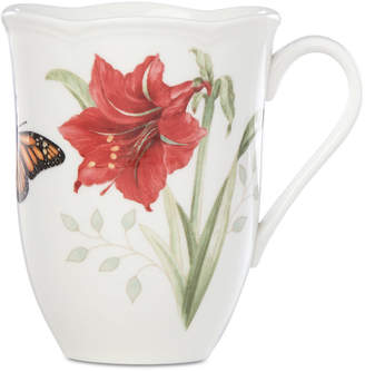 Lenox Butterfly Meadow Holiday Mug Amaryllis Design
