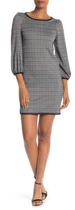 Max Studio Plaid 3\u002F4 Sleeve Dress