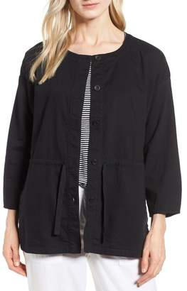 Eileen Fisher Shirttail Hem Organic Cotton Jacket (Regular & Petite)