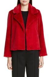 St. John Faux Beaver Fur Coat