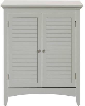 """Elegant Home Fashions 32""""H Glancy Double Door Floor Cabinet With 2 Shutter Doors"""