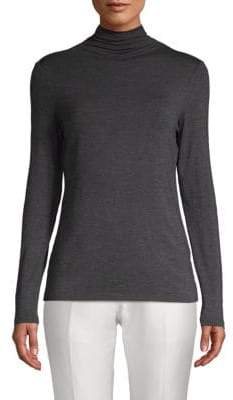 Saks Fifth Avenue Turtleneck Long-Sleeve Tee