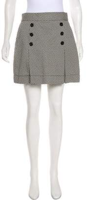 Marc Jacobs Checkered Print Mini Skirt