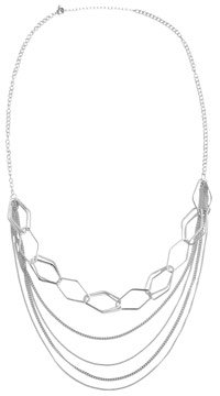 Long Geometric Chain Necklace