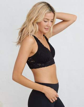 Aerie Padded Lace Racerback Bralette $26.95 thestylecure.com