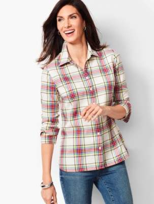 Talbots Classic Cotton Shirt - Lumiere Plaid