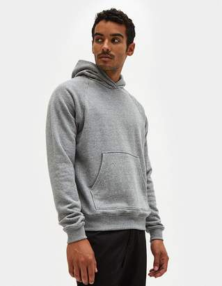 John Elliott Raglan Pullover Hoodie in Dark Grey