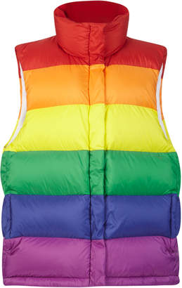 Burberry Rainbow Striped Puffer Vest