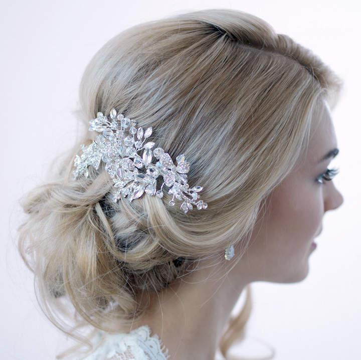 Etsy Swarovski Crystal Hair Clip, Silver Hair Clip, Bridal Hair Comb, Crystal Bridal Clip, Hair Clip for