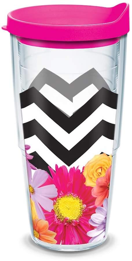 Tervis Black & White Chevron Floral Tumbler