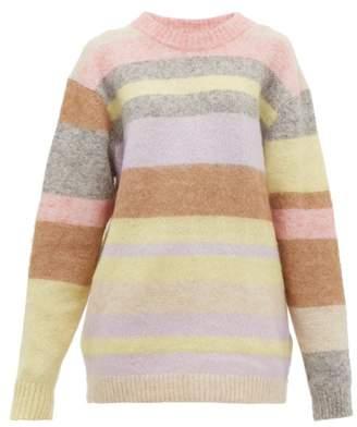 Acne Studios Kalbah Striped Knitted Sweater - Womens - Beige Multi