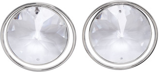 Maison Margiela Silver Crystal Earrings $365 thestylecure.com