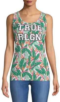 True Religion Women's Tropical Tank Top