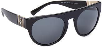 Versace Greca Flat Top Sunglasses $240 thestylecure.com