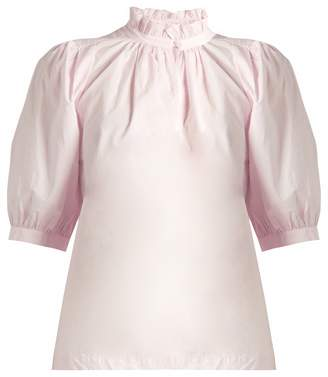 REBECCA TAYLOR Ruffled-collar cotton-poplin top $234 thestylecure.com
