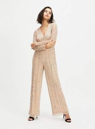Miss Selfridge Silver sequin jumpsuit