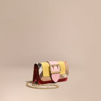 Burberry The Mini Buckle Bag in Snakeskin and House Check $795 thestylecure.com