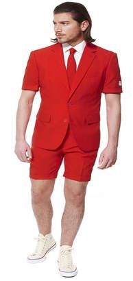 OppoSuits Red Devil Men Summer Suit