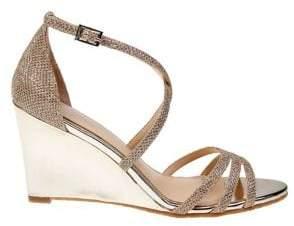 Badgley Mischka Hunt Metallic Wedge Sandals
